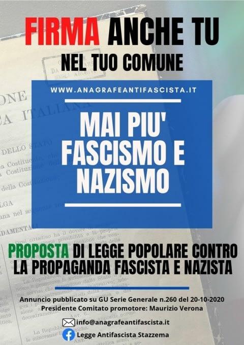 """Read more about the article Legge di inziativa popolare """"Mai più fascismo e nazismo"""""""